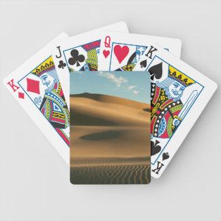 Paisaje del desierto baraja de cartas