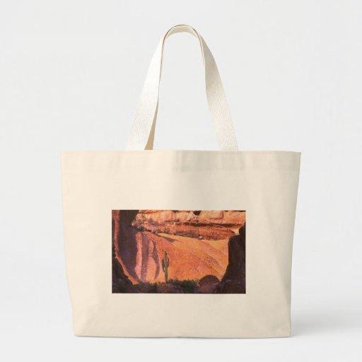 Paisaje del desierto bolsa tela grande