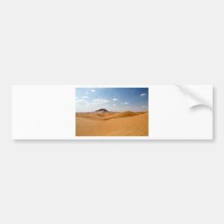 paisaje del desierto etiqueta de parachoque