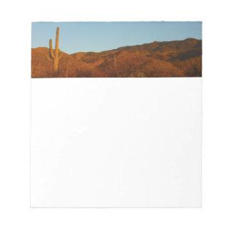 Paisaje del desierto de la puesta del sol I Bloc De Notas