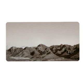 Paisaje del desierto etiquetas de envío