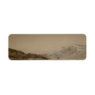 Paisaje del desierto etiqueta de remite