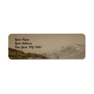Paisaje del desierto etiquetas de remite