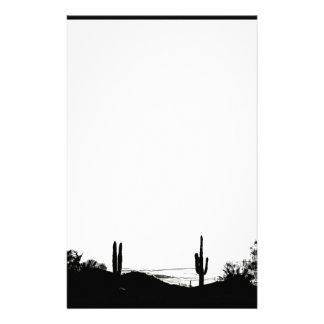 Paisaje del desierto papelería de diseño