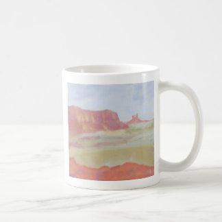Paisaje del desierto, taza