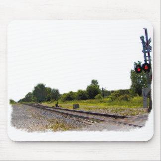 Paisaje del ferrocarril alfombrilla de ratón