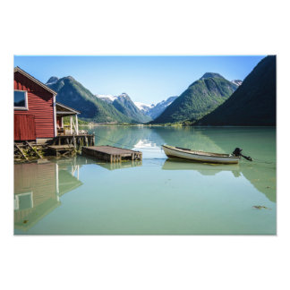 Paisaje del fiordo en Noruega Fotografía