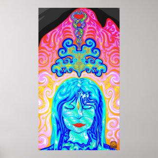 Paisaje del fractal - la diosa #03 impresiones
