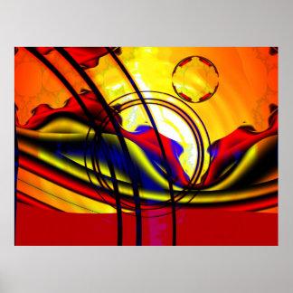 Paisaje del fractal poster