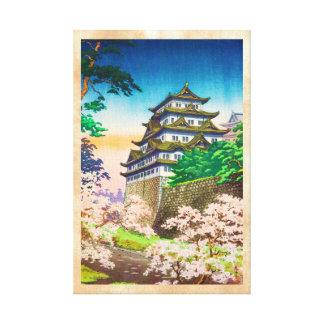 Paisaje del hanga de la espinilla del castillo de impresion en lona