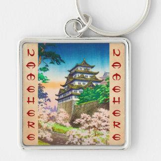 Paisaje del hanga de la espinilla del castillo de llaveros personalizados