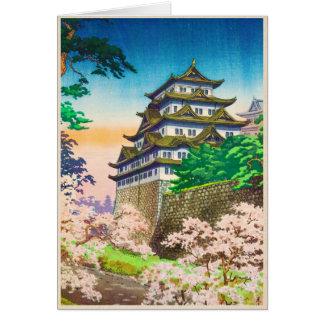 Paisaje del hanga de la espinilla del castillo de  tarjeta pequeña
