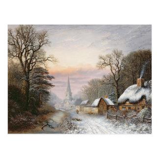 Paisaje del invierno, 1869 postal