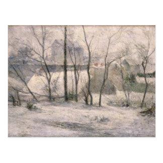 Paisaje del invierno, 1879 postal