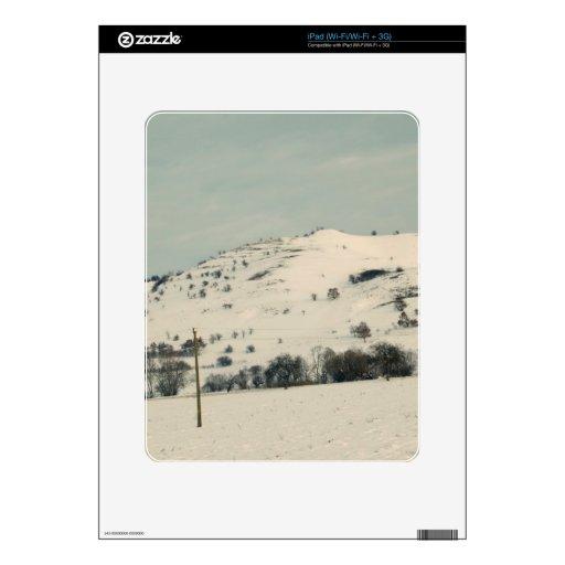 Paisaje del invierno calcomanía para iPad
