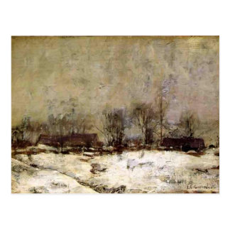 Paisaje del invierno, Cincinnati de Juan Twachtman Postal