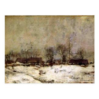 Paisaje del invierno, Cincinnati de Juan Twachtman Tarjeta Postal