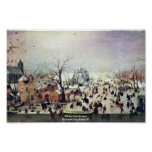 Paisaje del invierno de Avercamp Hendrik Poster