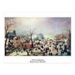 Paisaje del invierno de Avercamp Hendrik Tarjetas Postales