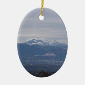 Paisaje del invierno de Calabria Ornamento Para Arbol De Navidad