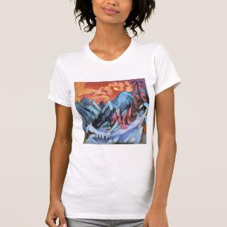 Paisaje del invierno de Ernst Kirchner- en claro d Camisetas