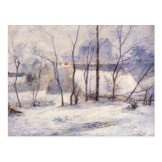 Paisaje del invierno de Paul Gauguin- Postal