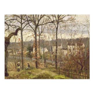 Paisaje del invierno en Louveciennes, c.1870 Postales
