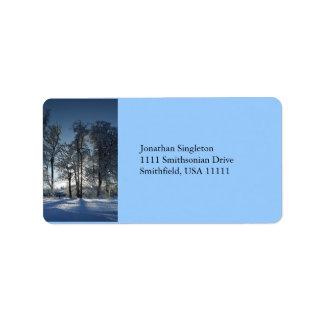 Paisaje del invierno etiquetas de dirección