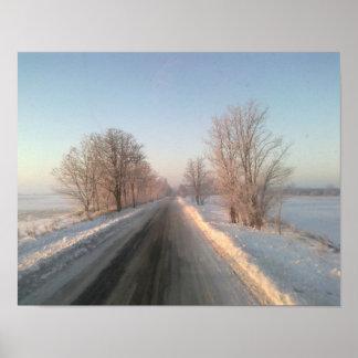 paisaje del invierno impresiones