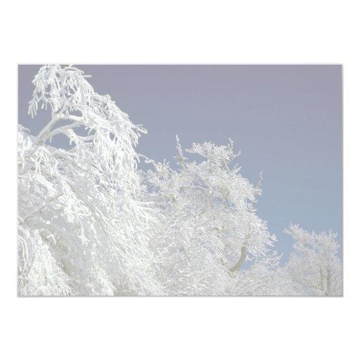 Paisaje del invierno, invierno de Nueva Invitación 12,7 X 17,8 Cm