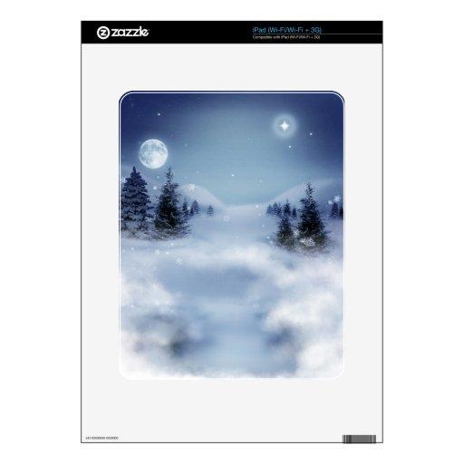 Paisaje del invierno iPad skins