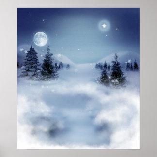 Paisaje del invierno posters