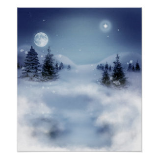 Paisaje del invierno poster