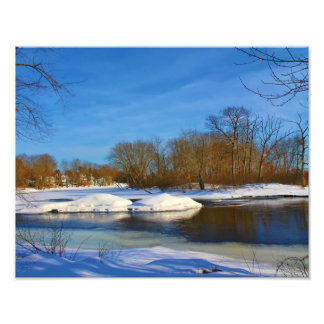 Paisaje del invierno - parque de Webster Fotografías
