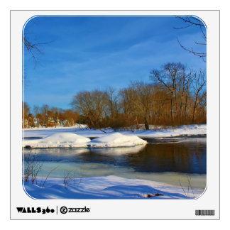 Paisaje del invierno - parque de Webster Vinilo