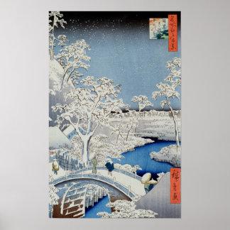 Paisaje del invierno póster