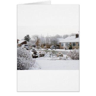 Paisaje del invierno tarjeton