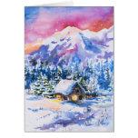 Paisaje del invierno tarjeta de felicitación