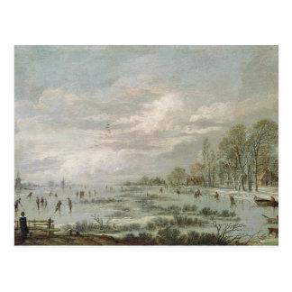 Paisaje del invierno tarjetas postales