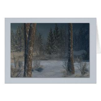 Paisaje del invierno tarjetas