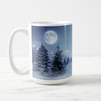 Paisaje del invierno taza