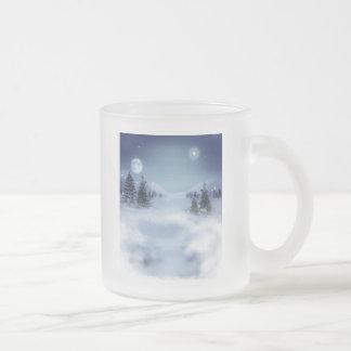 Paisaje del invierno tazas de café
