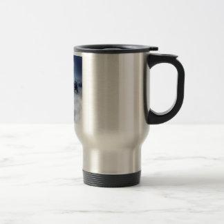 Paisaje del invierno taza de café