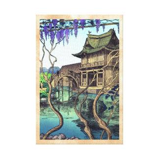 Paisaje del japonés del hanga de la espinilla de N Impresion En Lona