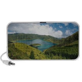 Paisaje del lago azores altavoces