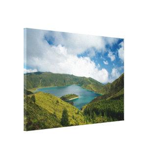 Paisaje del lago azores impresiones en lona
