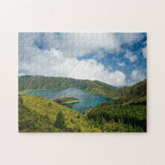Paisaje del lago azores puzzle