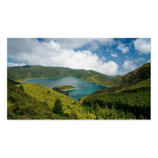 Paisaje del lago azores tarjetas de visita
