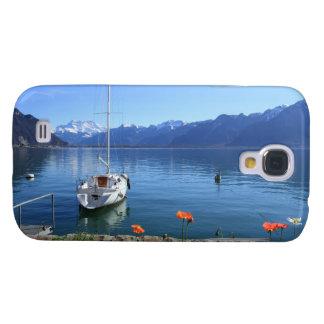 Paisaje del lago geneva, Montreux, Suiza Samsung Galaxy S4 Cover