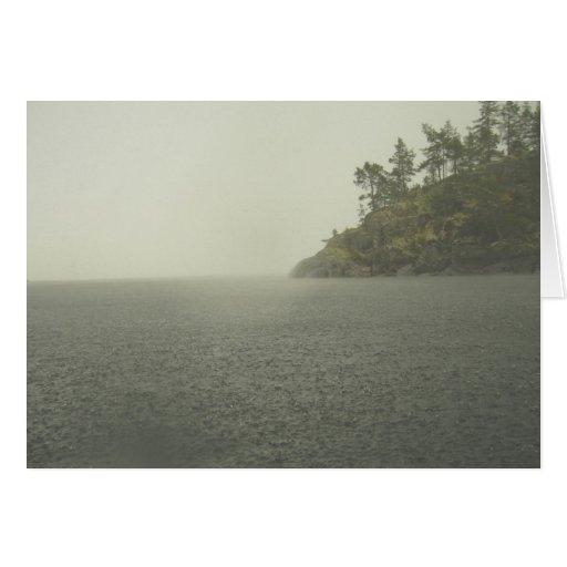 Paisaje del lago Ladoga Felicitacion